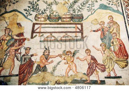 Roman Villa Mosaic - Sicily
