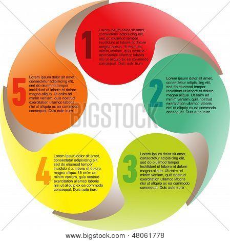 Creative List Disc Element Colorful