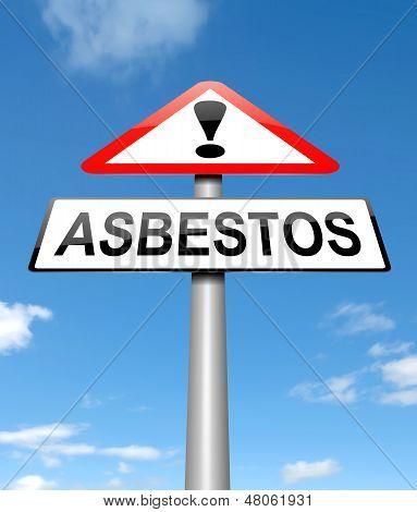 Concepto de asbesto.