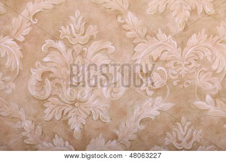 Vintage  Wallpaper With Vignette Pattern