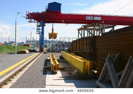Goliath Crane On The Storage Yard
