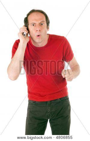 Surprised Man Phoning