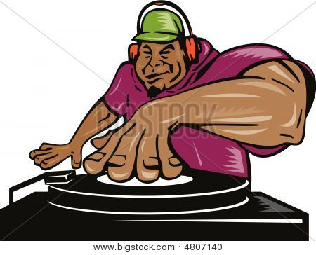 Deejay Playing Music