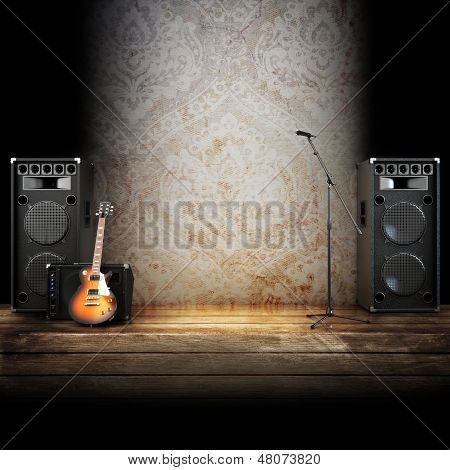 Music stage or singing background