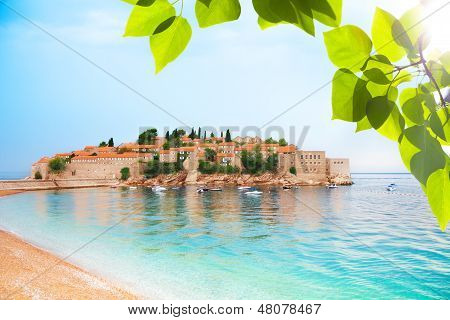 Sveti Stefan From The Beach