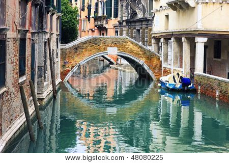 Little Canal In Venice