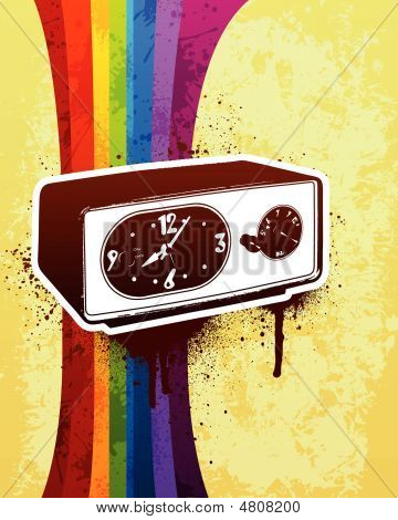 Alarm Clock Radio Illustration