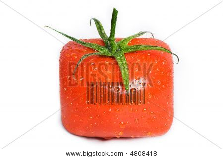 Square Tomato With Water Drops.