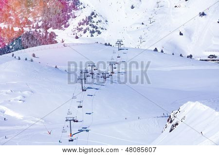 View Of Andorra Ski Lift