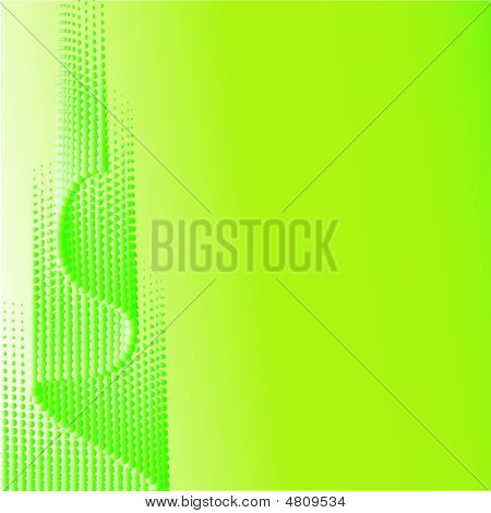 Green Half-tone Background