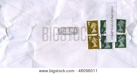 UK - CIRCA 2013: A stamp printed in UK shows image of the Queen Elizabeth, circa 2013.