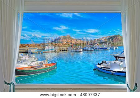 Castelsardo And Window