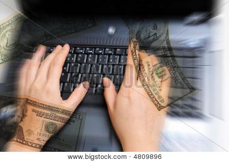 Mujeres manos trabajando en equipo con dinero