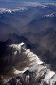 stock photo of karakoram  - aerial view of Karakoram mountains of Sinkiang China you can see frozen peaks and deep valley - JPG