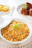 stock photo of nasi  - Biryani rice or briyani rice - JPG