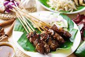 stock photo of malaysian food  - Satay or sate - JPG