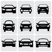 stock photo of four-wheelers  - compact and luxury passenger car icons - JPG