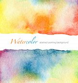 image of drop oil  - Abstract  watercolor painted background - JPG