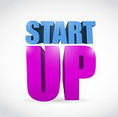 pic of start over  - start up text illustration design over a white background - JPG