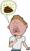 picture of obscene  - Isolated angry tough man screaming obscene words - JPG