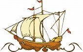 pic of cortez  - Old time sailing ship exploring the ocean - JPG