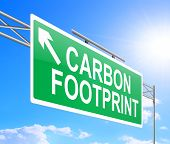 pic of carbon-footprint  - Illustration depicting a sign with carbon footprint concept - JPG
