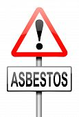 image of asbestos  - Illustration depicting a sign with an asbestos concept - JPG
