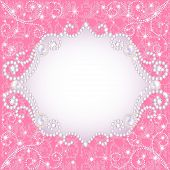 stock photo of precious stones  - illustration of a pink background with pearls for inviting - JPG