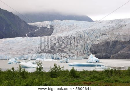 Tourists near Mendenhall Glacier