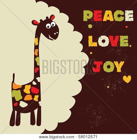 Hippie giraffe