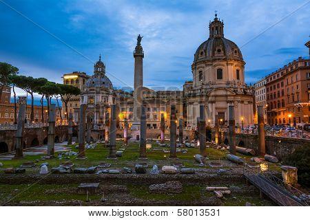 Traian column and Santa Maria di Loreto