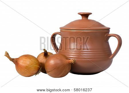 Bow And Ceramic Pot