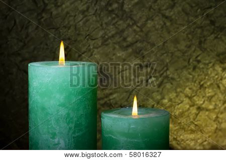 Aromatic Green Candles