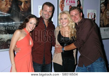 Mackenzie Firgens and Bradley Snedeker with Mercedes McNab and Frank Krueger  at the Los Angeles Screening of 'The Pink Conspiracy'. Laemmle Grande 4-Plex, Los Angeles, CA. 09-20-08