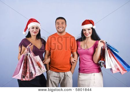 Friends With Christmas  Presents Bags