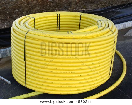 Plastic Pipe On Spool