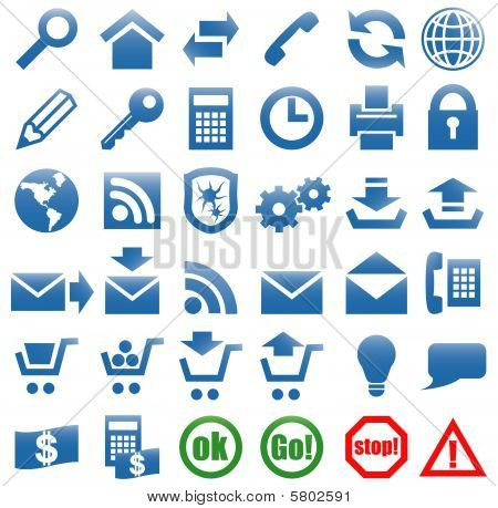 Icons for the web site Internet