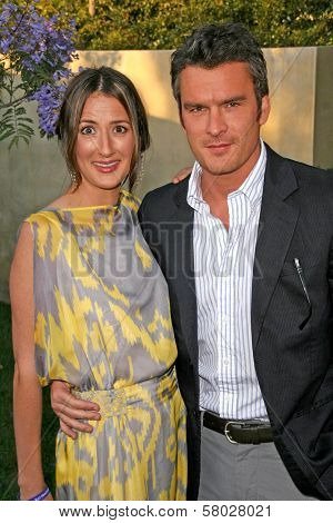 Balthazar Getty and wife Rosetta  at the 7th Annual Chrysalis Butterfly Ball. Private Residence, Los Angeles, CA. 05-31-08