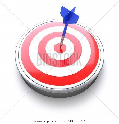 Dart Target Icon with Bull's eye