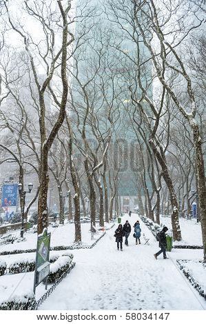 Winter View Bryant Park