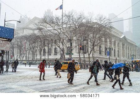 Snowy NY Commute