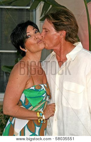 Kris Jenner and Bruce Jenner  at Sober Day USA 2008 Presented by the Brent Shapiro Foundation for Alcohol and Drug Awareness. Private Residence, Beverly Hills, CA. 05-17-08