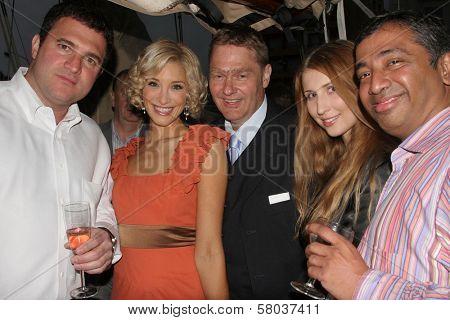 Robert Ricciardelli, Alexandra Fulton, Volker Maria Arend, Claudia Ciesla and Nari Narayanan  at the Cedar Lane Yacht Party. Cedar Lane Yacht, Cannes, France. 05-18-08