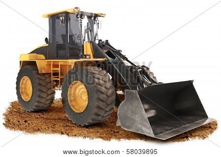 Generic construction bulldozer loader excavator