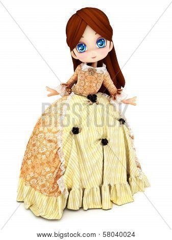 Cute Princess toon character posing