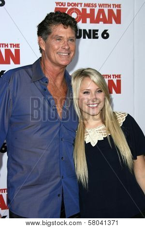 David Hasselhoff and his daughter  at the