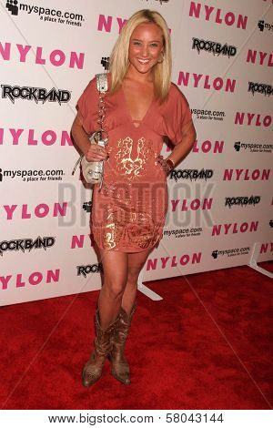 Lauren C. Mayhew  at the Nylon Magazine and Myspace Party. Private Location, Los Angeles, CA. 06-03-08
