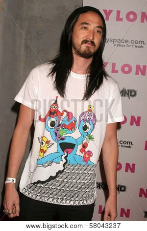 Steve Aoki  at the Nylon Magazine and Myspace Party. Private Location, Los Angeles, CA. 06-03-08