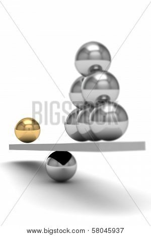 Disbalance (high Resolution 3D Image)