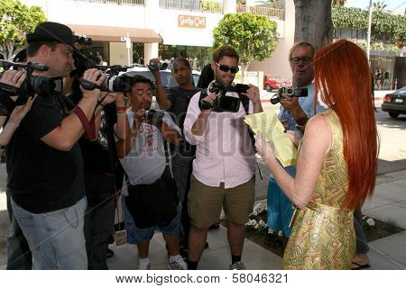 Phoebe Price  at a press conference to announce a lawsuit against Chanel for not honoring her invite to their red carpet store opening. Chanel, Beverly Hills, CA. 06-06-08